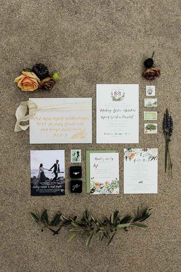Sable and Grey Custom Wedding Invitations
