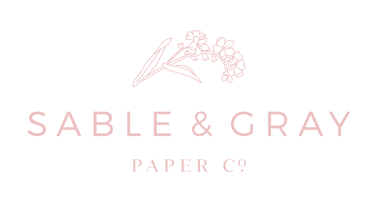 Sable & Gray Paper Co. | Custom Stationery, Heirloom Wedding Papers, and Fine Watercolors