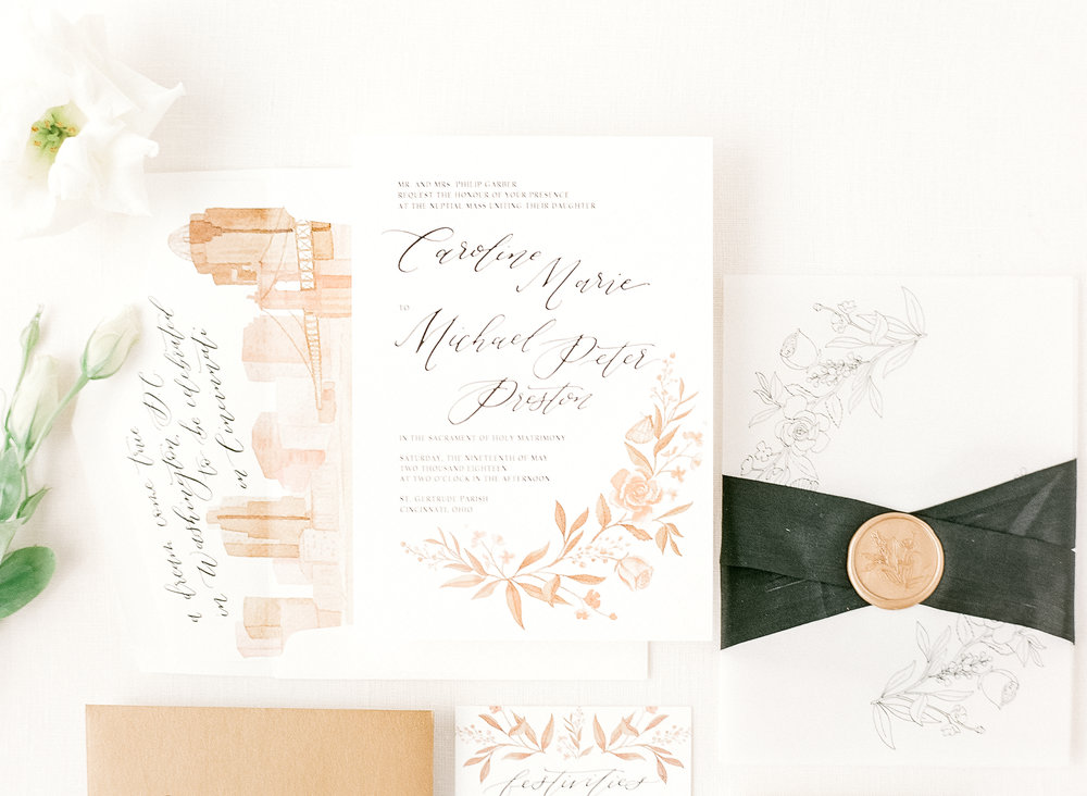 Custom invitations by Sable & Gray