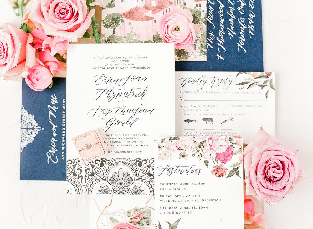 Custom invitation by Sable & Gray