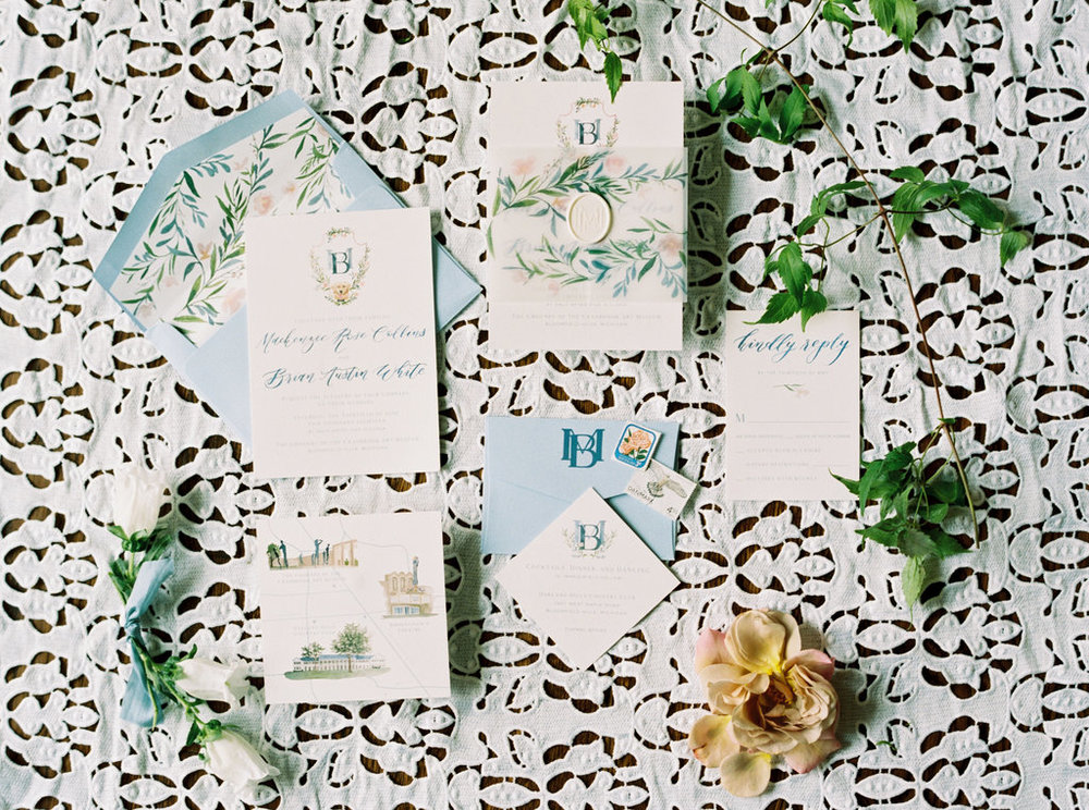 Custom Wedding Invitations by Sable & Gray