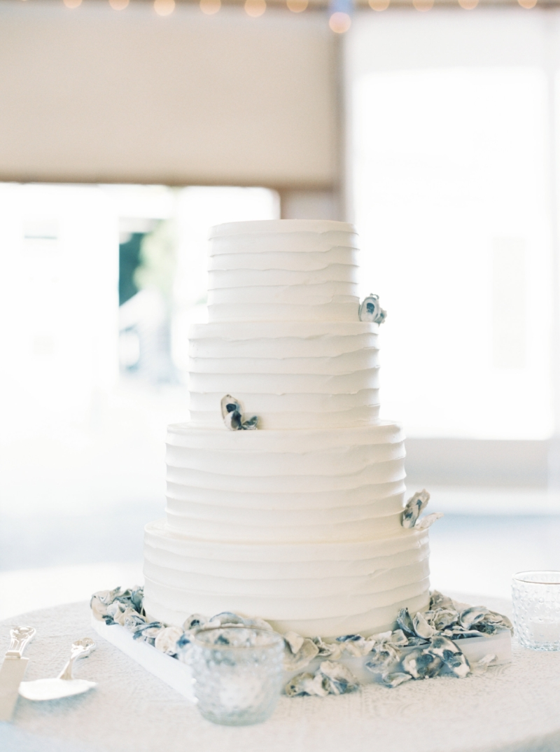 Oyster shell wedding cake