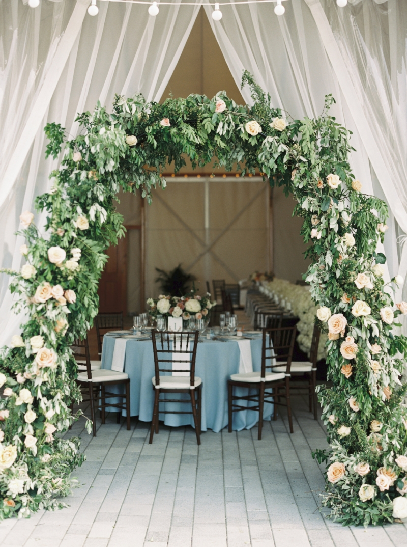 romantic wedding arch