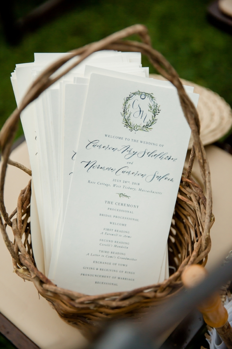 custom wedding programs by sable and gray