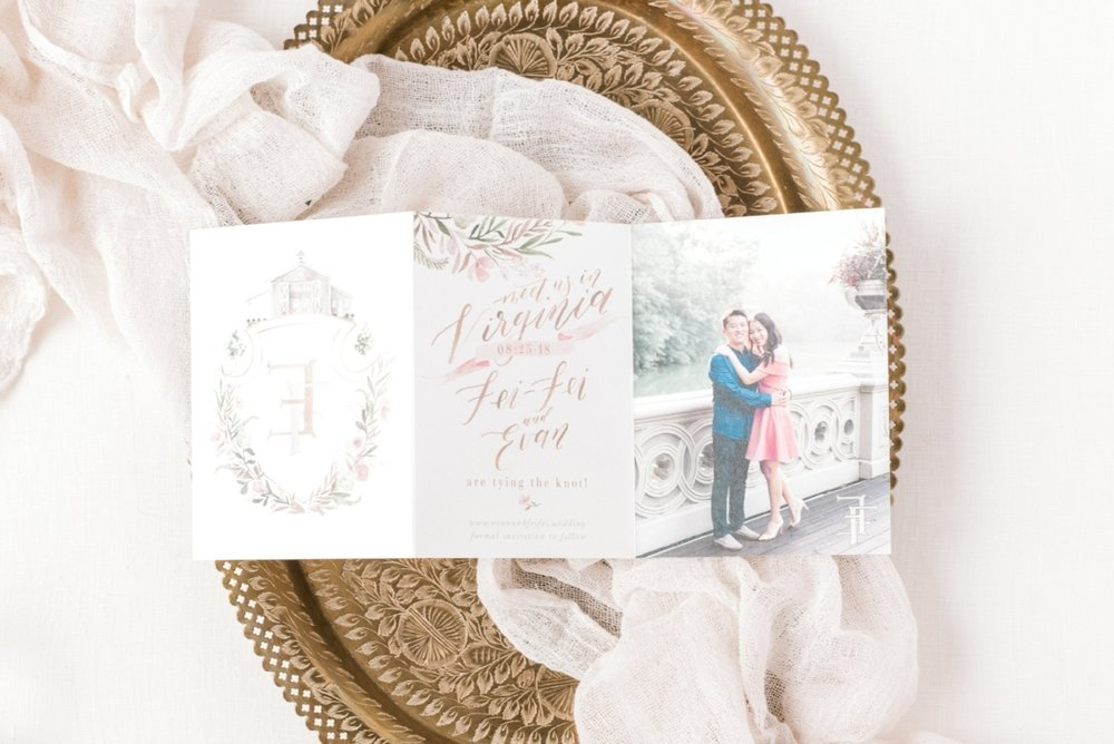 custom save the date invitations by sable & gray