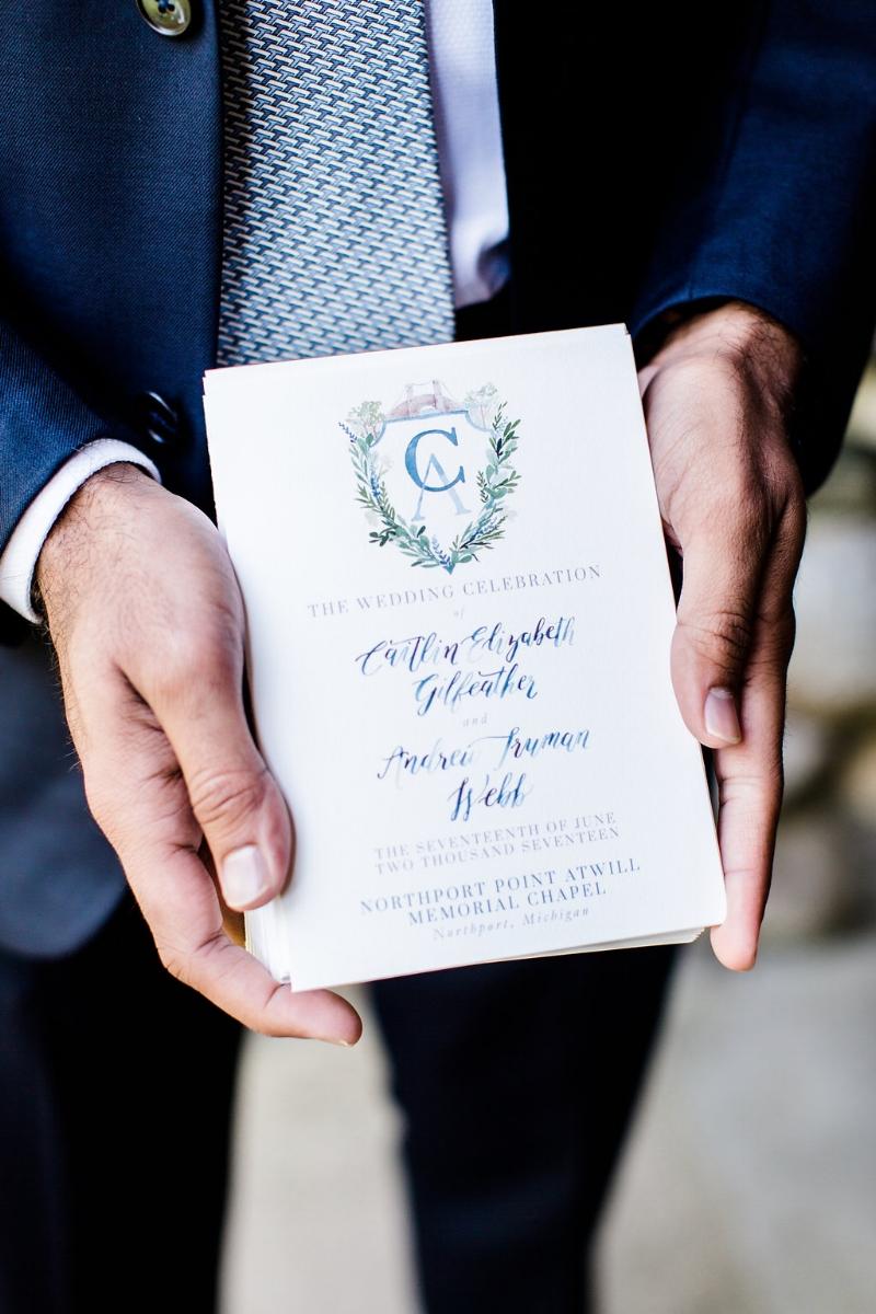 Custom wedding program by sable & gray