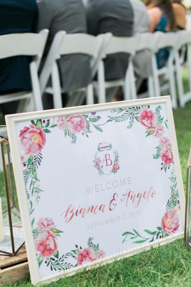 Custom Watercolor Wedding Sign by Sable & Gray