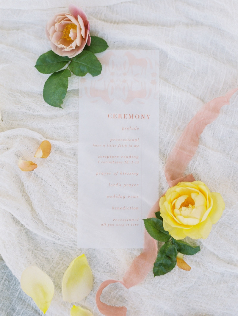 custom ceremony program by sable and gray