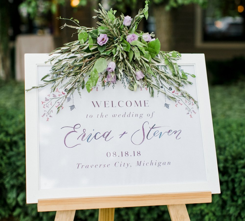 custom wedding sign by sable & gray