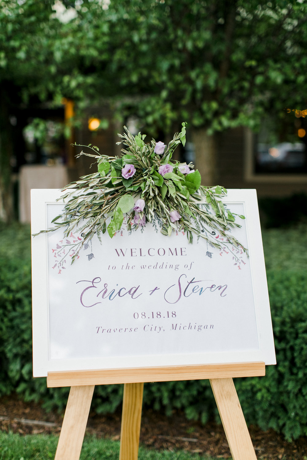 custom wedding welcome sign by sable and gray