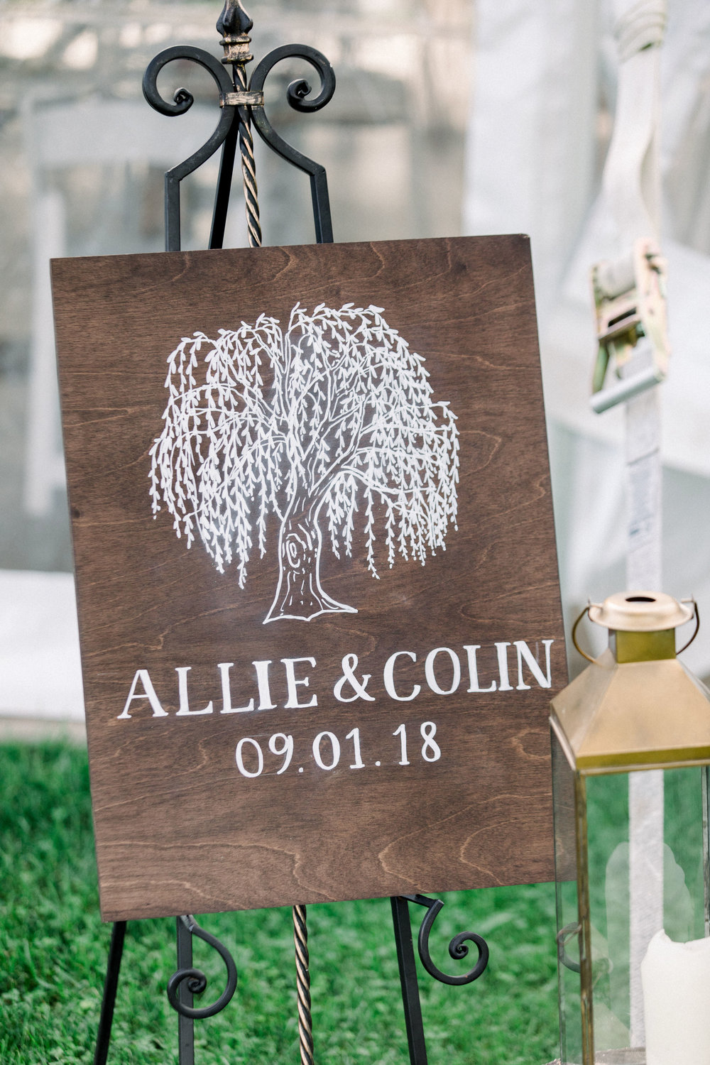 custom hand painted wooden welcome sign by sable and gray