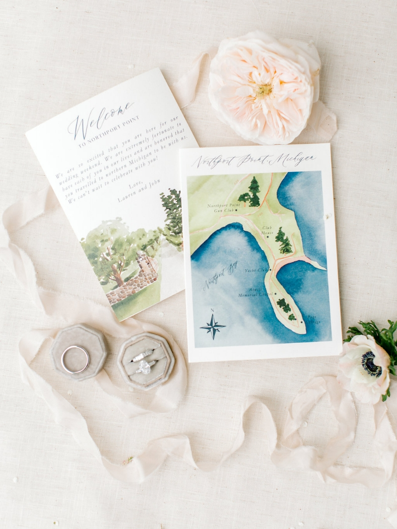 summer floral day of wedding sable gray paper co custom