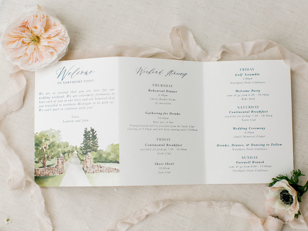 custom wedding program by sable and gray