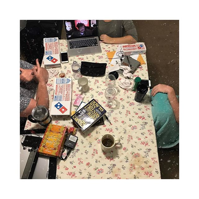 Day 105: messy tables & late night talks