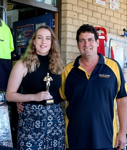 L-R: Corina Stagg with her father and current Mt Lawley Hardware store owner, Glen Stagg