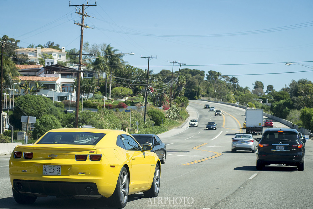 Driving along the PCH.