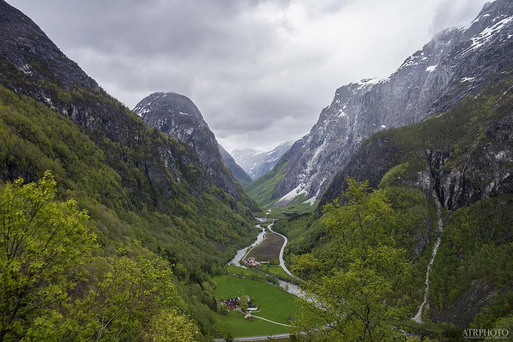 Gudvangen, along the hairpin-turn-ridden road.
