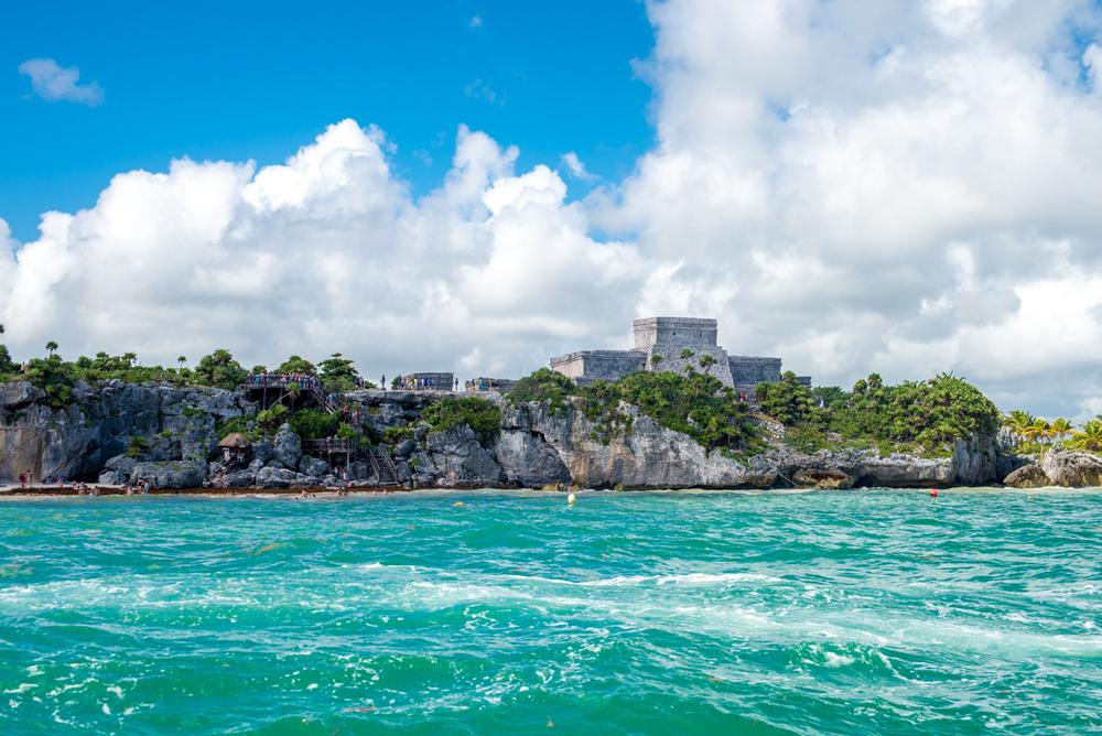 El Castillo from the ocean