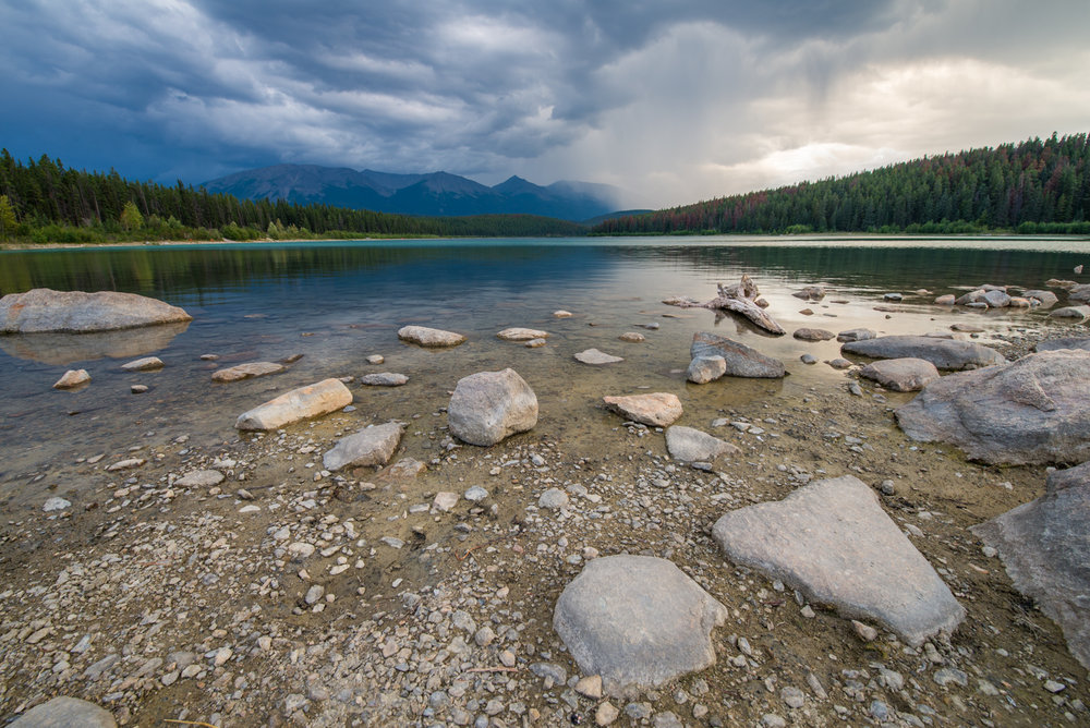 Storm over Patricia Lake