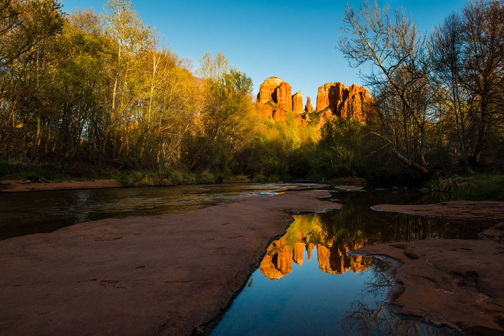 Cathedral Rock, Reflected