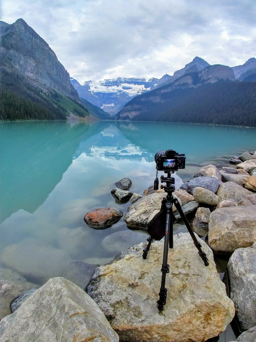 Photographing at Lake Louise. © Paul Nguyen