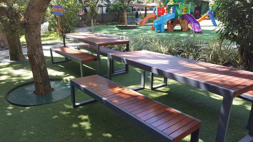 Mesas Piano Piquenique em colégio Santa Dorotéia - Porto Alegre/RS