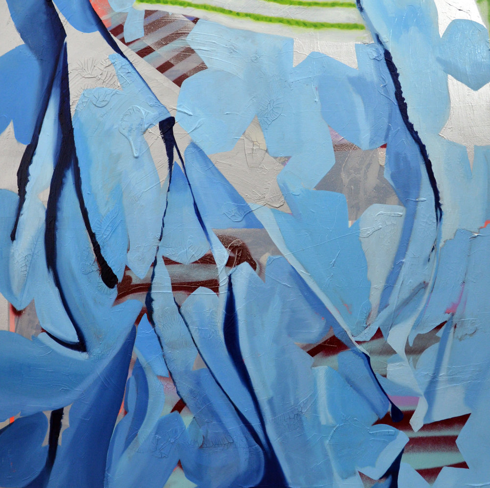 Stars 3 Oil and Acrylic on Canvas 3' x 3'