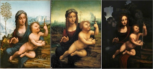 Copies: From left: Louvre, Paris; Museo Soumaya, Mexico City; Christ Church Picture Gallery, Oxford.