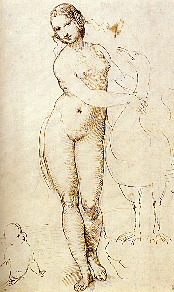 A sketch of Leo's Leda by Raphael