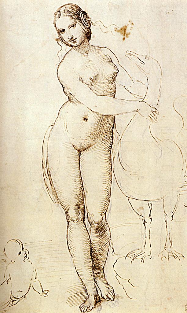 A sketch of Leo's Leda by Raphael