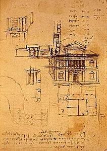 Plan for the villa of the governor of Milan, Charles d'Amboise.