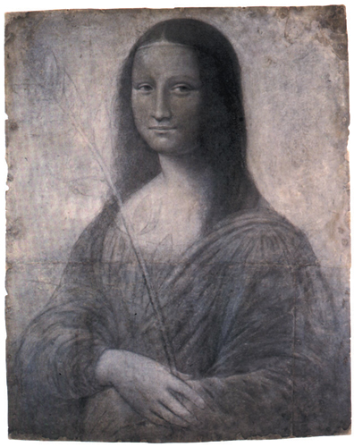 An early sketch of the Mona Lisa potentially by Leonardo