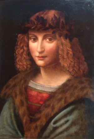 Portrait of Salai c. 1495-1500. By Unknown, but I think it's a self portrait by Salai with help from Leonardo.