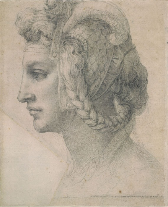Michelangelo Buonarroti - sketch - braided hair.jpg