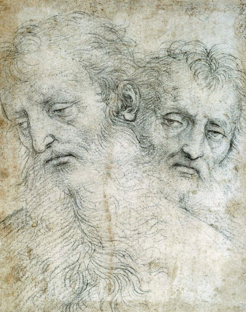The heads of two Apostles
