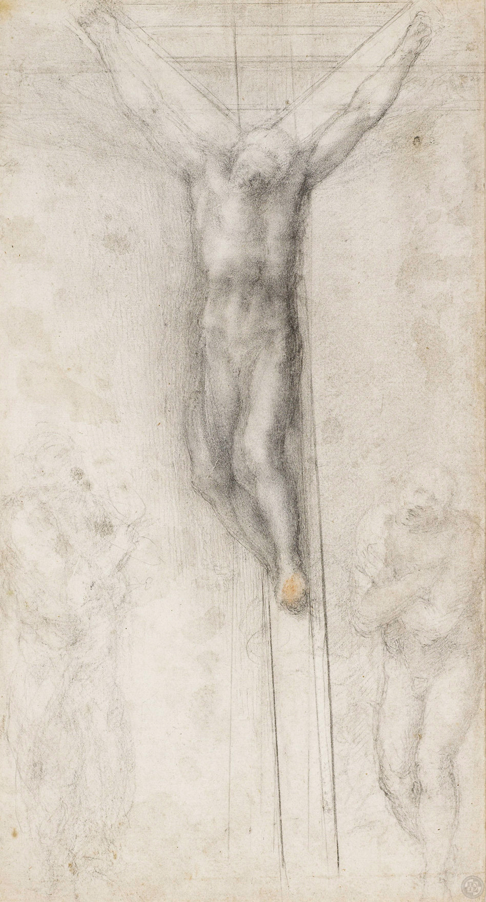 Michelangelo-Buonarroti--Drawing---Christ-on-a-Cross.jpg