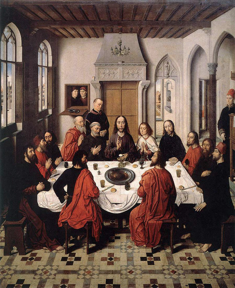 The Last Supper - from the Winged altar in St. Peter in Leuven - Dirk Bouts, 1465
