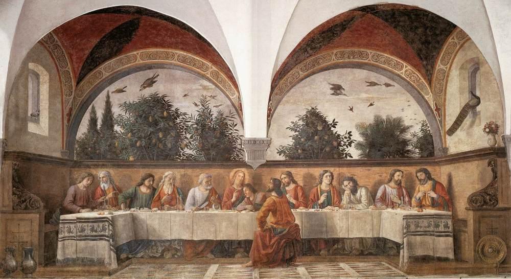 Domenico Ghirlandaio  1480  Fresco  160in ×320in  Cenacolo di Ognissanti,Florence