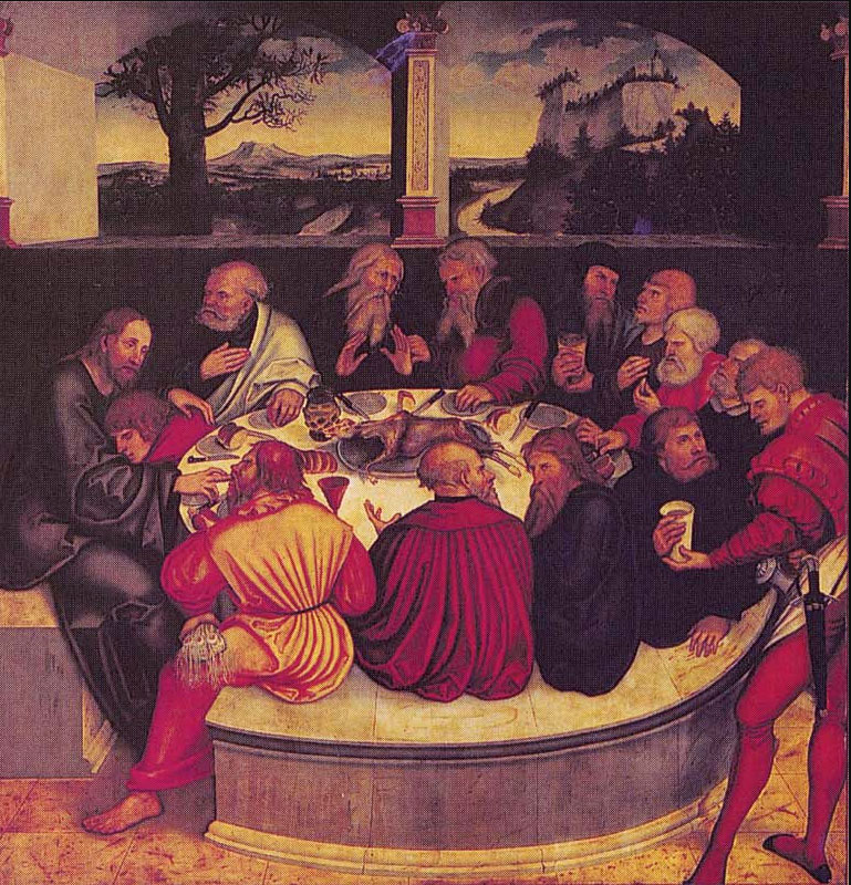 The Last Supper - Lucas Cranach the Elder, 1547