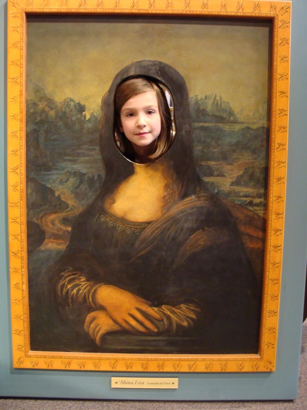 Mona Lisa Painting In Frame