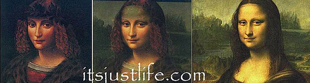 Portrait of Salai combined with the Mona Lisa