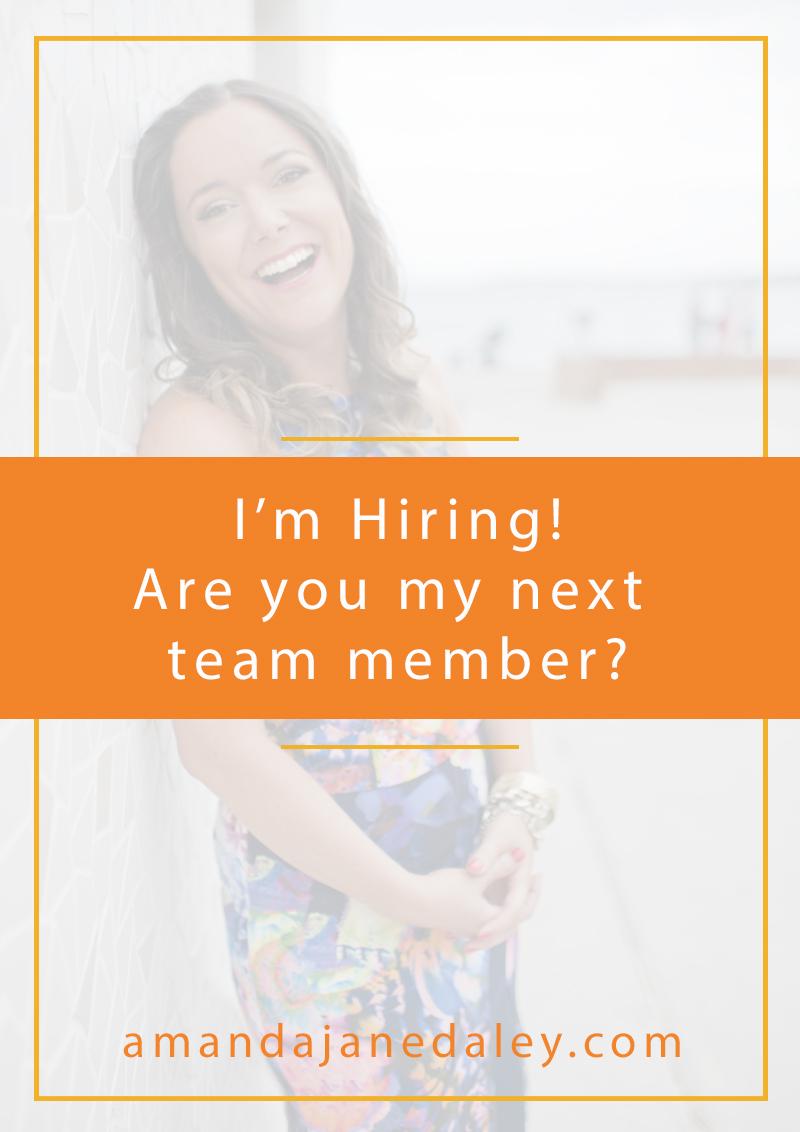 I'm hiring