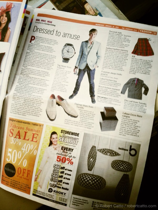Dominion Post Who What Wear page