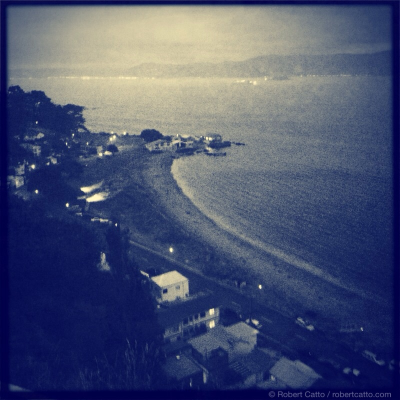 Worser Bay on a damp evening