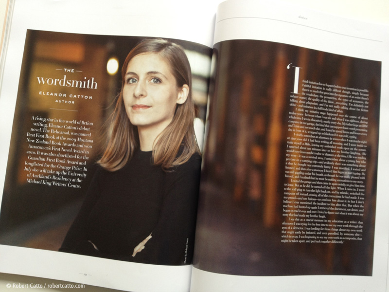 Eleanor Catton in The Denizen magazine