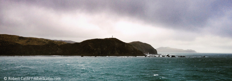 Lighthouses at Pencarrow, leaving Wellington Harbour
