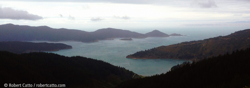 Marlborough Sounds from Port Underwood Road