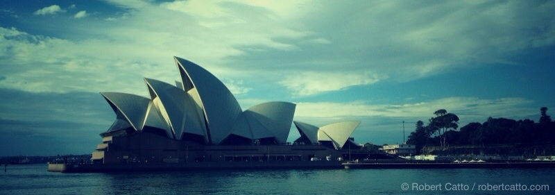Sydney Opera House from the Harbour Ferry (with 645 Pro & Snapseed for iPhone 4S)