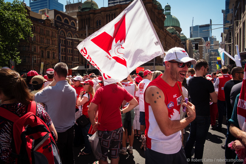 Sydney Swans Fans at the Victory Parade
