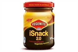 Umm…so…as if Vegemite wasn't enough of a crime in and of itself, news comes of this new atrocity:  Vegemite iSnack 2.0 .  No, really.  That's the name on the jar.   No, REALLY.    This article  sums it up well: 'So iSnack2.0 is a poo-coloured, dairy-fat laden spread for the new generation – mmm, tasty.'  (Personally, I think it's the poo-coloured, dairy-fat laden spread… of the New Millennium .)